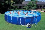 Intex басейн с тръбна конструкция Metal Frame™ кръгъл Ø732x132 см.