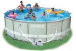 Intex басейн с тръбна конструкция Ultra Frame™ кръгъл Ø488x122 см.