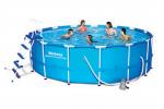 Bestway басейн с тръбна конструкция Steel Pro кръгъл Ø457х122 см.