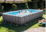 Intex басейн с тръбна конструкция Ultra Frame™ правоъгълен  732х366x132см.