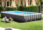 Intex басейн с тръбна конструкция Ultra Frame™ правоъгълен 975х488x132см със система за солна електролиза
