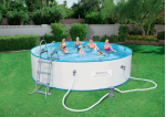 Bestway сглобяем басейн с метални стени Hydrium splasher кръгъл Ø460х90 см.