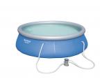 Bestway басейн с надуваем ринг Fast Set кръгъл 396х84см.
