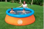 Bestway Детски надуваем басейн 3D Adventure + два броя 3D очила 213х66 см.