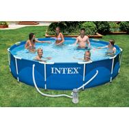 Intex басейн с тръбна конструкция Metal Frame™ кръгъл Ø305x76 см.