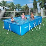 Bestway басейн с тръбна конструкция Splash Frame правоъгълен 400x211x81 см.