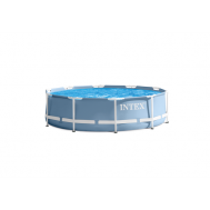 Intex басейн с тръбна конструкция Prism Frame кръгъл Ø457х107см.