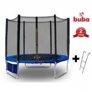 Buba батут с предпазна мрежа и стълба 244см.