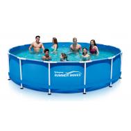 Summer Waves басейн с тръбна конструкция Metal Frame кръгъл 305х76см.