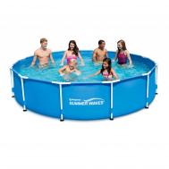 Summer Waves басейн с тръбна конструкция Metal Frame кръгъл 366х76см.