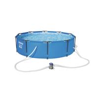 Bestway басейн с тръбна конструкция Steel Pro кръгъл Ø305x76см.