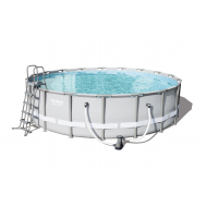 Bestway басейн с тръбна конструкция Power Steel кръгъл Ø549х132см.