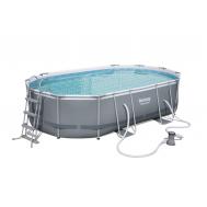 Bestway басейн с тръбна конструкция Power Steel овален 488x305x107см.