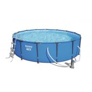 Bestway басейн с тръбна конструкция Steel Pro кръгъл 457x107см.
