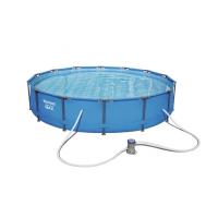 Bestway басейн с тръбна конструкция Steel Pro кръгъл 427x84см.