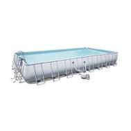 Bestway басейн с тръбна конструкция Power Steel правоъгълен 956х488х132см.