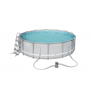 Bestway басейн с тръбна конструкция Power Steel кръгъл 427x107см.
