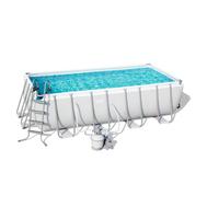 Bestway басейн с тръбна конструкция Power Steel правоъгълен 488x244x122см.