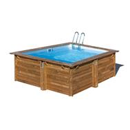Gre сглобяем дървен басейн Carra квадратен 300x300xh119см