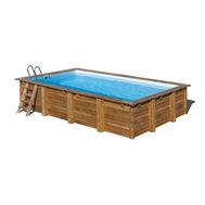 Gre  сглобяем дървен басейн Mint правоъгълен 1000x400xh146см