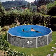 Gre сглобяем басейн с метална стена Corcega имитация на камък овален ф550h132см