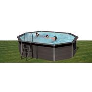 Gre басейн от композитни панели Avantgarde овален 804x386хh124см