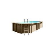 Gre сглобяем дървен басейн Vermela oвален 672x472xh146см