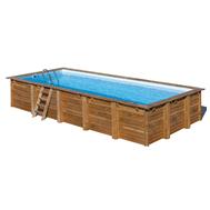 Gre сглобяем дървен басейн Evora правоъгълен 600x400xh133см