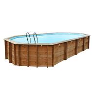 Gre сглобяем дървен басейн Avila  овален 942x592xh146см