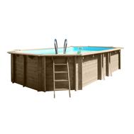 Gre сглобяем дървен басейн Cannelle oвален 551x351xh119см