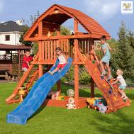 Fungo Giant дървена детска площадка с пързалка