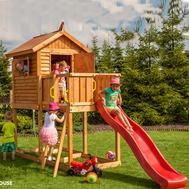 Fungoo My House детска площадка с къщичка и пързалка