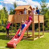 Fungoo My Space XL детска площадка с къщичка и пързалка