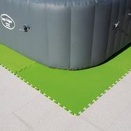 Bestway комплект меки подложки за басейн зелени 81/81см