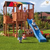 Fungo Kingdom детскa площадка с пързалка и наблюдателни кули
