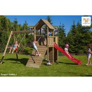 Fungo Carol 3 дървена детска площадка с кула и пързалка