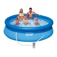 Intex басейн с надуваем ринг Ø244х76 см с филтър
