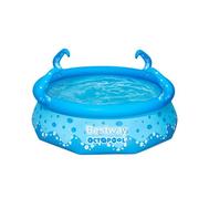 Bestway Детски басейн с надуваем ринг OctoPool с пръскалки 274х76см