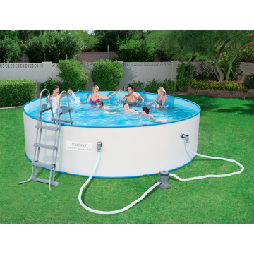 Bestway сглобяем басейн с метални стени Hydrium Splasher кръгъл 360х90 см.