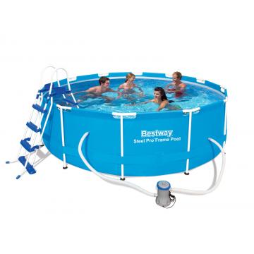 Bestway басейн с тръбна конструкция Steel Pro кръгъл Ø366х100 см.