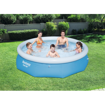 Bestway басейн с надуваем ринг Fast Set кръгъл 274х76см.