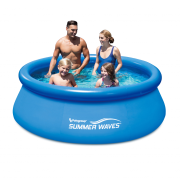 Summer Waves басейн с надуваем борд Quick Set кръгъл 244х76см.