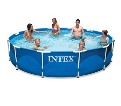 Intex басейн с тръбна конструкция Metal Frame™ кръгъл Ø366x76 см.