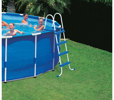 Intex басейн с тръбна конструкция Metal Frame™ кръгъл Ø457x107 см.