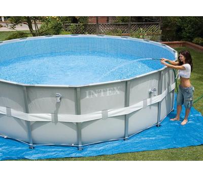 Intex басейн с тръбна конструкция Ultra Frame™ кръгъл Ø549x132 см.