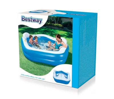 Bestway надуваен детски басейн със седалки петоъгълник 213х206х69см.