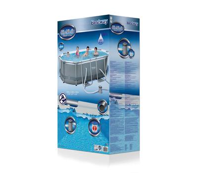 Bestway басейн с тръбна конструкция Power Steel овален 300х200х84см.
