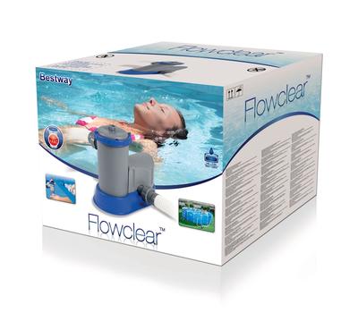 Bestway филтрираща система помпа с картушен филтър 5.7 м3/ч.