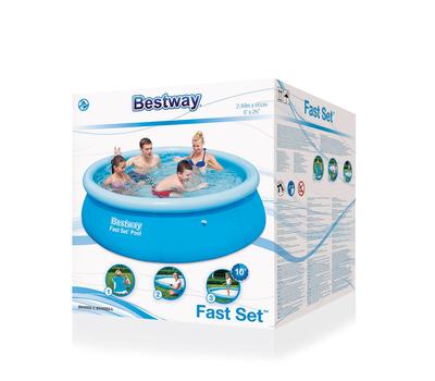 Bestway Басейн с надуваем ринг Fast Set 244х66 см.