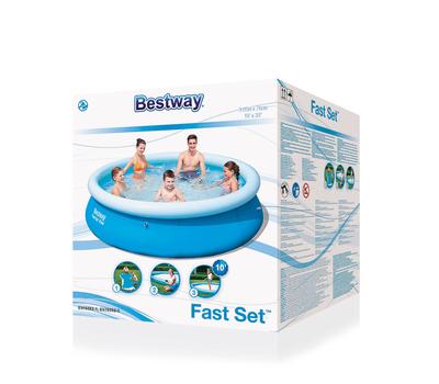 Bestway Басейн с надуваем ринг Fast Set™ кръгъл Ø305х76 см.